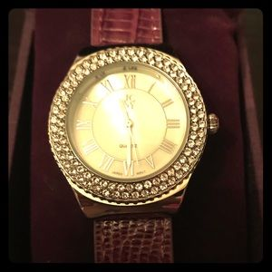 Jimmy Crystal purple Swarovski watch